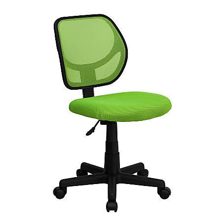 Flash Furniture Mesh Low-Back Swivel Chair, Green/Black