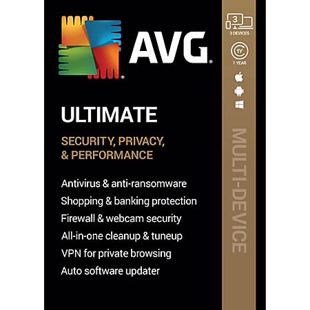 AVG Ultimate 2020   3 Devices 1 Year   Download