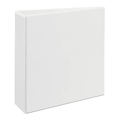 """Avery® Non-Stick Heavy-Duty View Binder With EZ-Turn™ Rings, 3"""" Rings, 40% Recycled, White"""