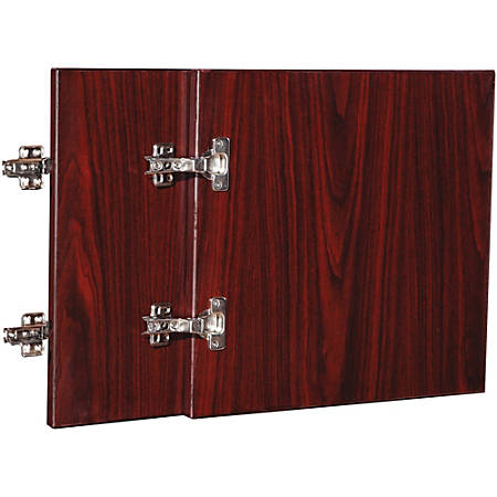 "Lorell® Essentials Series Doors for Wall Mount Open Hutch, 30""W, Mahogany"