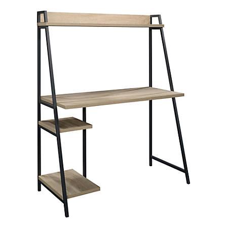 """Sauder® North Avenue 44""""W Desk With Hutch, Charter Oak"""