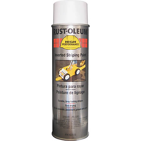 Rust-Oleum High-Performance Striping Spray Paint, 18 Oz, White