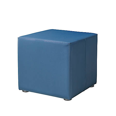 """Marco Square Seating Ottoman, 18""""H, Neptune"""