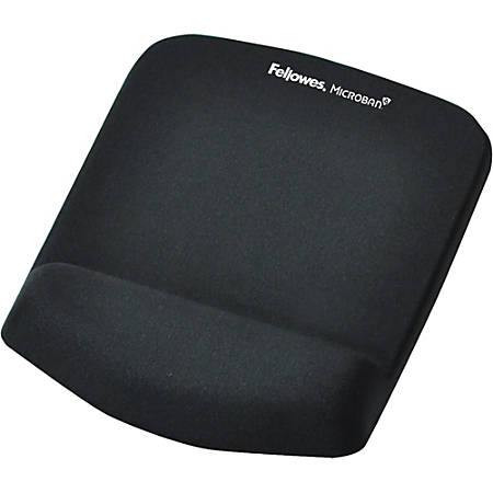 Fellowes® PlushTouch™ Mouse Pad With Wrist Rest, Black