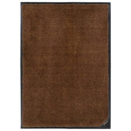 """M + A Matting  Colorstar Plush Floor Mat, 36"""" x 120"""", Golden Brown"""