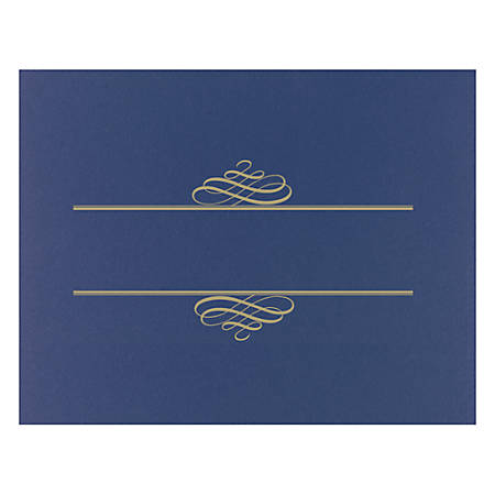 """Great Papers! Certificate Cover, 12"""" x 9 3/8"""", Navy, Pack Of 5"""
