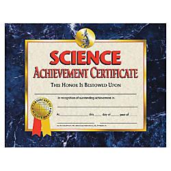 Flipside Science Achievement Certificate 11 x