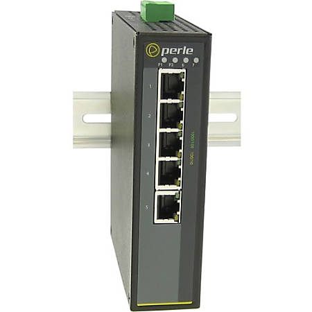 Perle IDS-105G-M2ST05 - Industrial Ethernet Switch - 6 Ports - 2 Layer Supported - Rail-mountable, Wall Mountable, Panel-mountable - 5 Year Limited Warranty