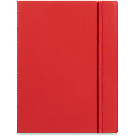"Filofax® A5 Refillable Notebook, Wirebound, 8-1/2"" x 6-6/16"", 56 Sheets, Leatherette, Red"