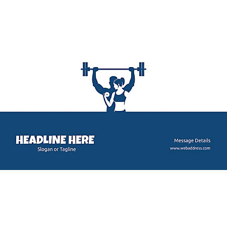 Custom Horizontal Banner, Weightlifting
