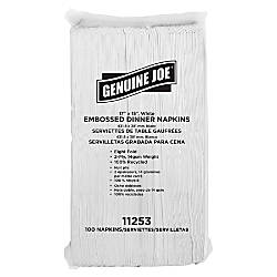 Genuine Joe Embossed 2 Ply Dinner