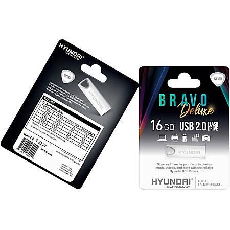 Hyundai Bravo Deluxe 2.0 USB - 16 GB - USB 2.0 - Silver