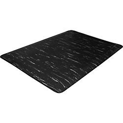"Genuine Joe Marble Top Anti-fatigue Mats - Office, Airport, Bank, Copier, Teller Station, Service Counter, Assembly Line, Industry - 24"" Width x 36"" Depth x 0.50"" Thickness - High Density Foam (HDF) - Black Marble Item # 498554 