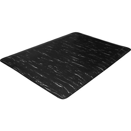 """Genuine Joe Marble Top Anti-fatigue Mats - Office, Airport, Bank, Copier, Teller Station, Service Counter, Assembly Line, Industry - 24"""" Width x 36"""" Depth x 0.50"""" Thickness - High Density Foam (HDF) - Black Marble"""