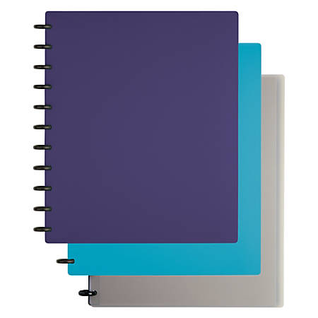TUL™ Custom Note-Taking System Discbound Notebook, Letter Size, Narrow Ruled, 60 Pages (30 Sheets), Assorted Colors