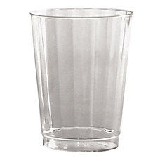 WNA Classic Crystal Plastic Fluted Tumblers