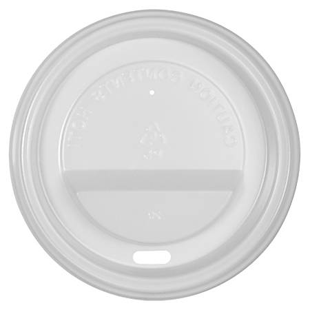 Genuine Joe Ripple Hot Cup Protective Lids, 10 - 16 Oz, White, Pack Of 1000