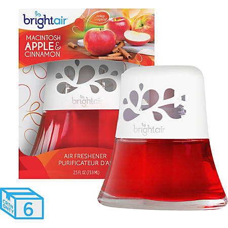 Bright Air Scented Oil Air Freshener, Macintosh Apple & Cinnamon Scent, 2.5 Oz