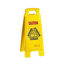 Rubbermaid Multilingual Wet Floor Sign