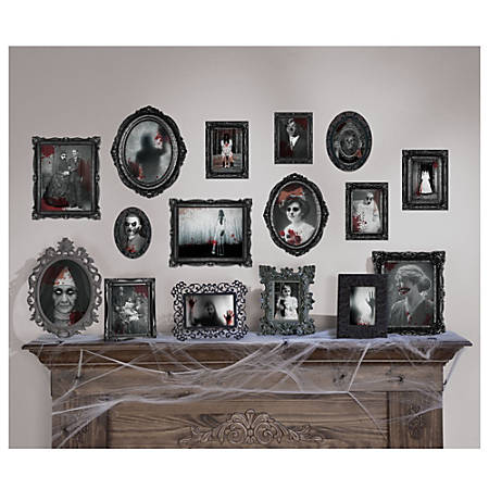 "Amscan Paper Halloween Dark Manor Frame Cutouts, 5"" to 13"", 3 Per Pack, Case Of 30 Packs"