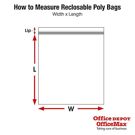 """Office Depot® Brand Reclosable Static Shielding Bags, 5 x 5"""", Transparent, Case Of 100"""