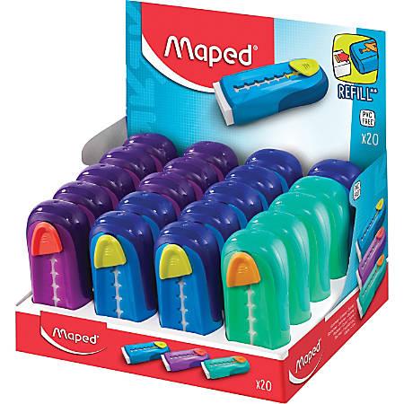 Helix Universal Gom Stick Eraser Classpack - PVC-free, Phthalate-free, Self-locking, Eco-friendly - 20/Box - Assorted
