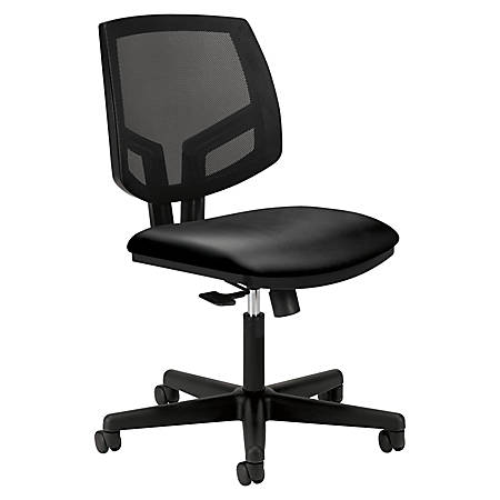 HON® Volt Mesh Leather Mid-Back Task Chair, Black
