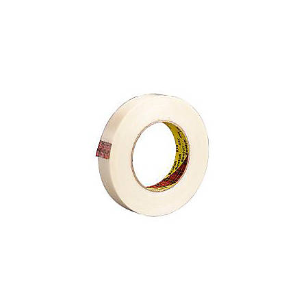 """3M® 898 Strapping Tape, 3/8"""" x 60 Yd., Clear, Case Of 12"""