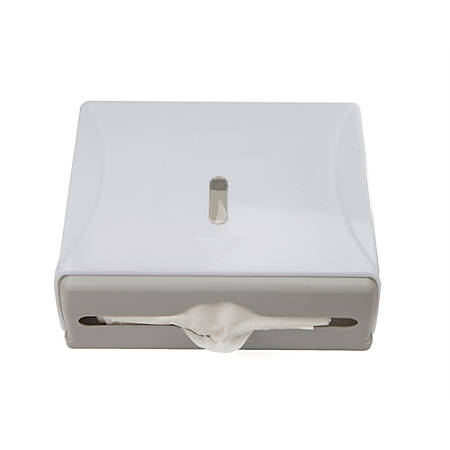 Mind Reader Multi-Fold Surface-Mounted Paper Towel Dispenser, White