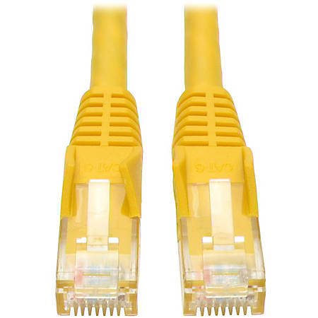 Tripp Lite 1ft Cat6 Gigabit Snagless Molded Patch Cable RJ45 M/M Yellow 1' - Category 6 - 1ft - 1 x RJ-45 Male Network - 1 x RJ-45 Male Network - Yellow