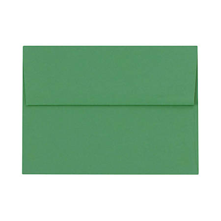 "LUX Invitation Envelopes With Peel & Press Closure, A2, 4 3/8"" x 5 3/4"", Holiday Green, Pack Of 50"