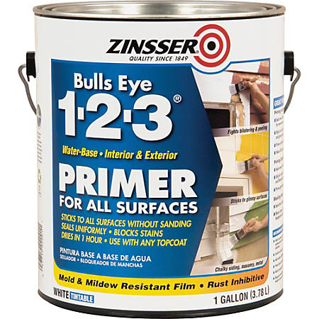 Zinsser Bull's-Eye 1-2-3 Primer, 128 Oz