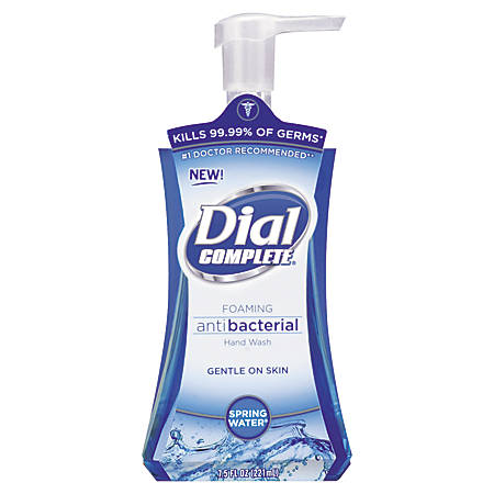 Dial Complete Foaming Antibacterial Hand Soap, 7.5 Oz, Springwater/Blue, 8-Pack