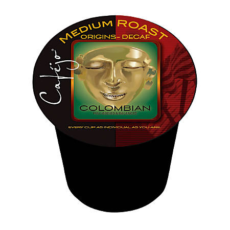 Cafejo K-Cup® Pods, Decaf Colombian, 0.5 Oz, Pack Of 50