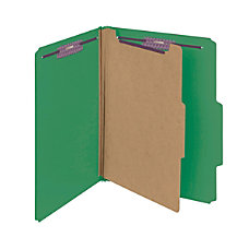 Smead Pressboard Classification Folder 1 Divider