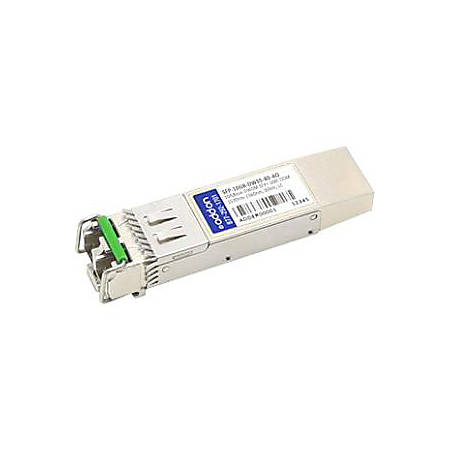 AddOn MSA and TAA Compliant 10GBase-DWDM 100GHz SFP+ Transceiver (SMF, 1549.32nm, 80km, LC, DOM)