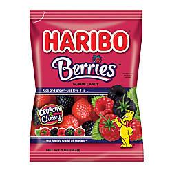 Haribo Raspberry Gummies 5 Oz Pack