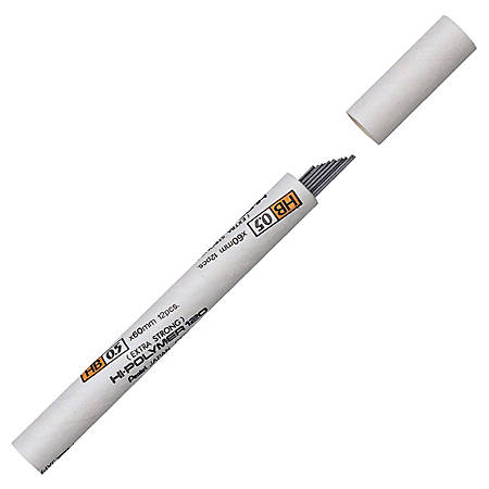 Pentel® Premium Super Hi-Polymer® Lead, 0.5 mm, HB, Medium, Tube Of 12