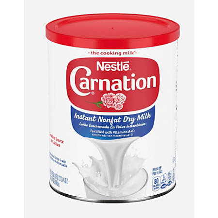 Carnation Instant Nonfat Dry Milk, 22.75 Oz, Pack Of 4 Canisters