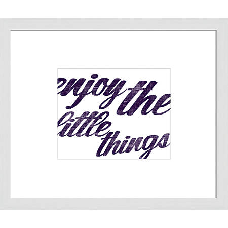 """PTM Images Matted Framed Wall Art, Little Things, 23 1/2""""H x 27 1/2""""W"""