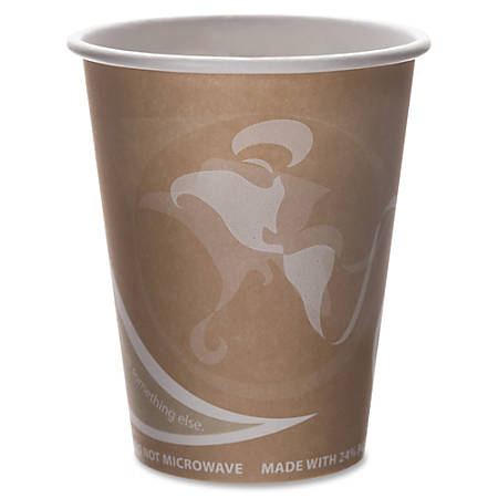 Eco-Products Recycled Hot Cups - 50 - 8 fl oz - 500 / Carton - Multi - Fiber - Hot Drink - Recycled
