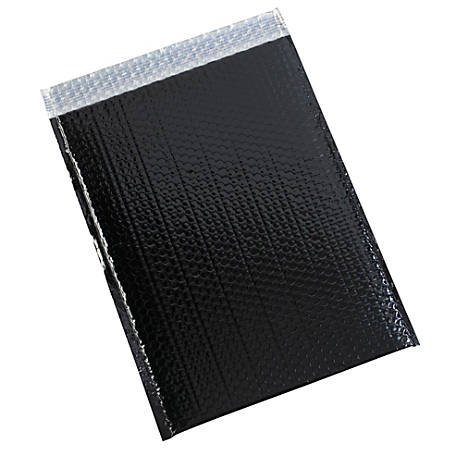 "Partners Brand Black Glamour Bubble Mailers 13"" x 17 1/2"", Pack of 100"