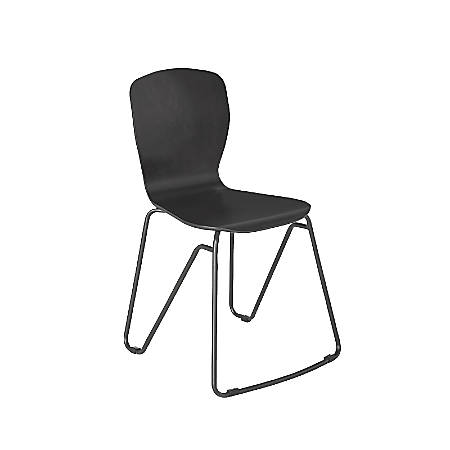 VARIDESK Stacking Side Chairs, Dark Gray, Set Of 2 Chairs