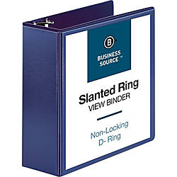 Business Source D Ring View Binder