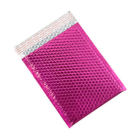 """Partners Brand Pink Glamour Bubble Mailers 9"""" x 11 1/2"""", Pack of 100"""