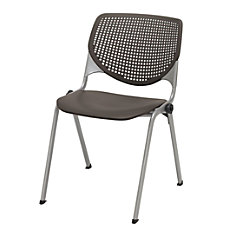 KFI Studios KOOL Stacking Chair BrownstoneSilver