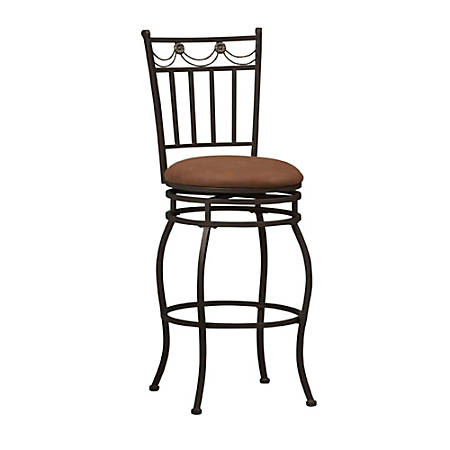 "Linon Home Décor Products Monaco Counter Stools, 24""H, Brown"