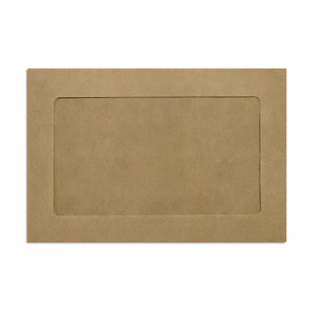 """LUX Full-Face Window Envelopes With Peel & Press Closure, #6 1/2, 6"""" x 9"""", Grocery Bag, Pack Of 500"""