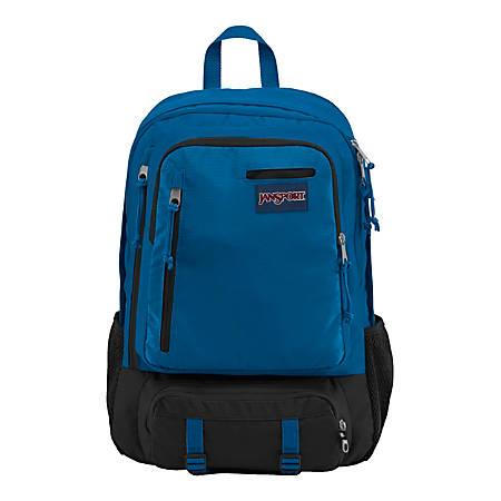 "JanSport® Envoy Backpack With 15"" Laptop Pocket, Stellar Blue Triangle Dobby"