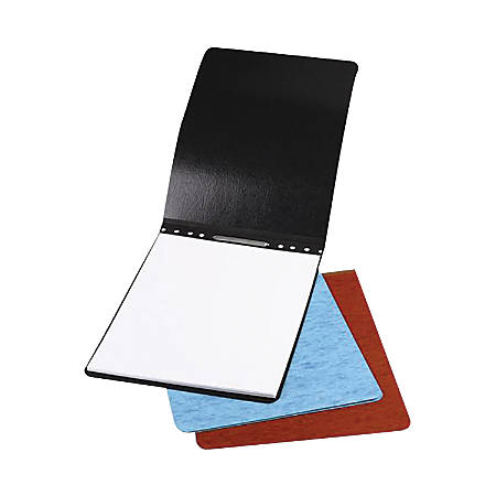 """ACCO® Presstex® Top-Bound Report Binder, 4-1/4"""" CC, 8-1/2"""" x 11"""", 60% Recycled, Light Blue, Pack Of 2"""